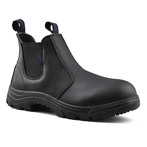 (Rocky Moose Men's Leather Soft Toe Winter Boots Light Weight 3M Thinsulate Waterproof Slip On - Builder (12(3E) US,)