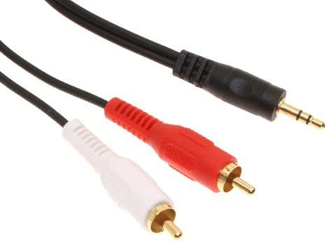 3.5mm Stereo Cable to Dual RCA Cinch CableMax 6ft Gold Plated Hi-Quality 1//8 to RCA