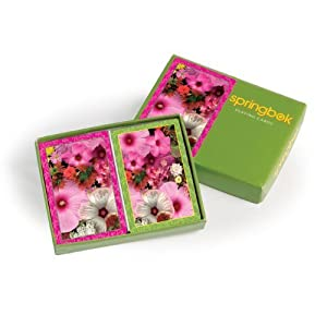 Springbok Puzzles Blossom Bouquet Bridge Jumbo Print Index Playing Cards By Springbok