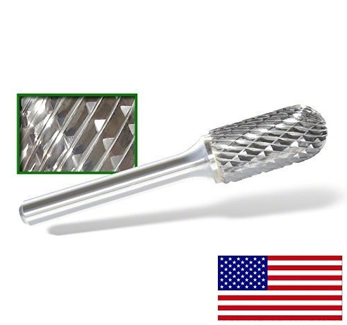 Sc Burr - SC-5D Cylindrical Radius End Tungsten Carbide Burr - C-5 Double Cut