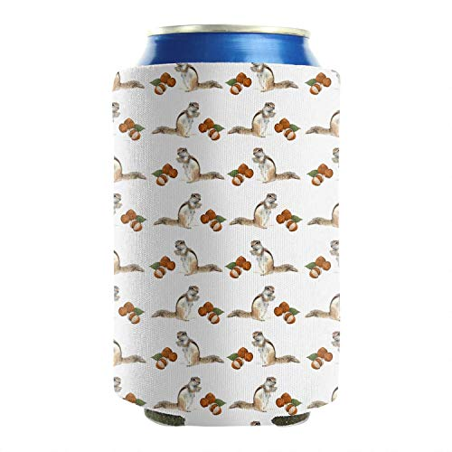 Beer Can Cooler Sleeves Covers Ground Squirrel 2-piece Insulated Cup Cover (Squirrel Beer Koozie)