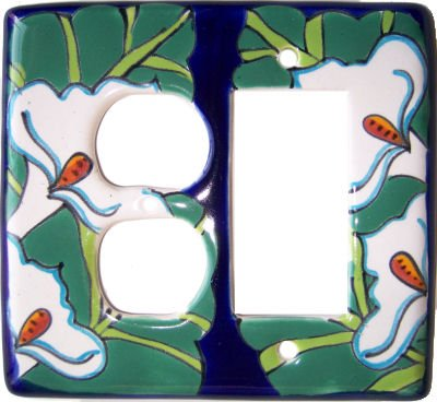 Lily Talavera Decora-Outlet Switch Plate by Fine Crafts & Imports