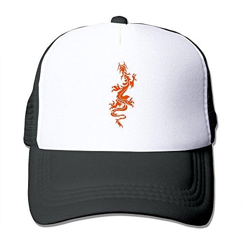 Chinese Dragon Tattoo 6 Unisex Baseball Mesh Caps Hat Adjustable 100% Nylon Black By JE9WZ