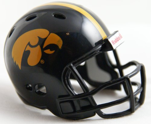 IOWA HAWKEYES NCAA Riddell Revolution POCKET PRO Mini Football Helmet (Helmet Novelty Hawk)