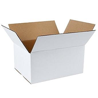 """ruspepa reciclado corrugado caja de cartón 8 x 6 x 4 """"valor color blanco"""