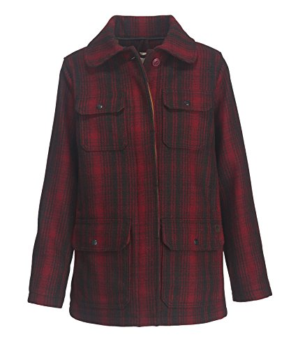 Woolrich Women's Miss 503 Wool Hunt Coat, Red/Black, (Nylon Vintage Coat)