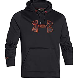 Under Armour Rival Hoodie - Men's Black Fuego Medium