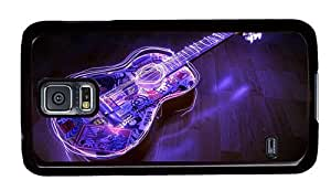 Hipster Samsung Galaxy S5 Case funny cases Neon Lights Guitar PC Black for Samsung S5