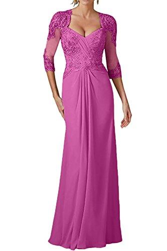 Damen Pink Perlen Abendkleider Langes Brautmutterkleider La Etuikleider mit Partykleider Marie Braut avqHEp