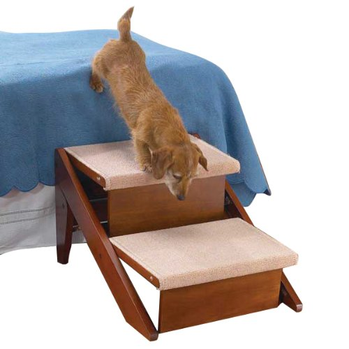 Pet Studio Pine Frame Dog RampSteps, 2 Step, My Pet Supplies
