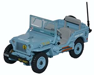 OXFORD DIECAST 1:76 Scale Willys MB US Navy Seabees from Oxford Diecast