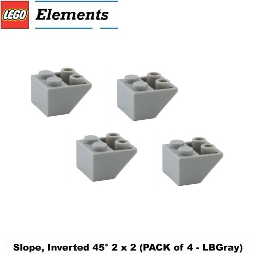 Lego Naboo N1 Starfighter - Lego Parts: Slope, Inverted 45° 2 x 2 (PACK of 4 - LBGray)