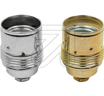 Turbo Leuchten Lampen Metall Fassung E27 chrom mit Glattmantel, Metall  WK98
