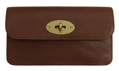Lush Leather Turnlock Flap Chestnut Brown ()