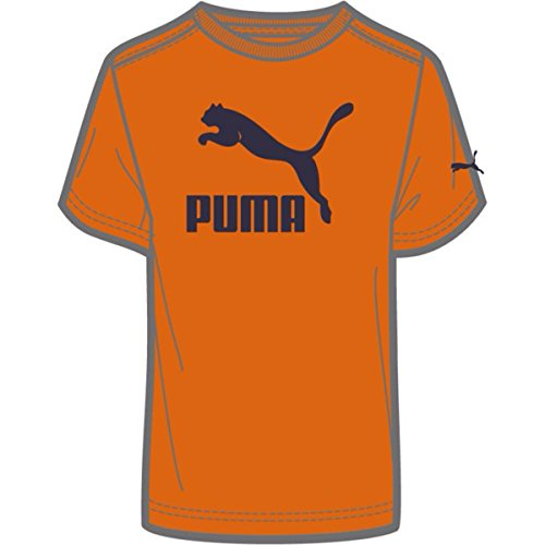 Puma Mens Archive Life Short -Sleeve Shirt - 3X-Large- Burnt - Orange - Peacoat