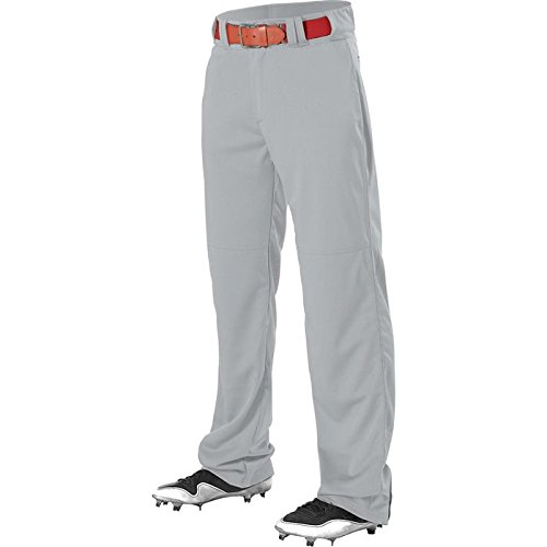 Alleson Athletic Youth Adjustable Inseam Baseball Pants, Grey, Large