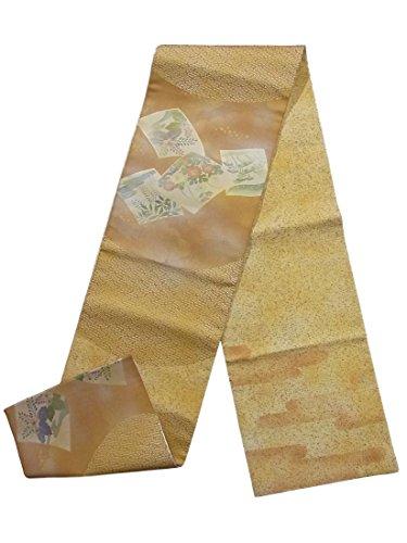 不誠実申請中住所リサイクル 袋帯 色紙に菊や桐 作家物 正絹