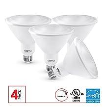 LEDPAX PAR38 LED Light Bulbs Dimmable, 17W (100W equivalent), 3000K , 1200 Lumens, CRI 80, Standard E26 Base, Indoor Outdoor LED Flood Light, 4 Pack, UL Listed, Energy Star Certified