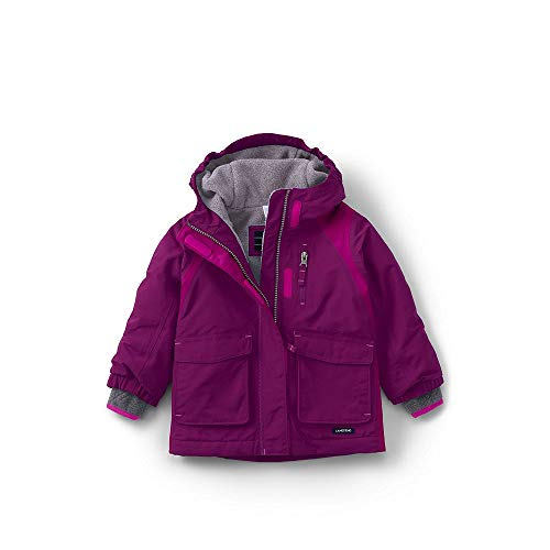 Lands' End Toddler Girls Squall Waterproof Winter Parka, 3T, Rubellite