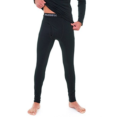 Russell Men's Performance Active Baselayer Thermal Pant/Bottom (X-Large (Waist 40''-42''), Black) by Russell Athletic