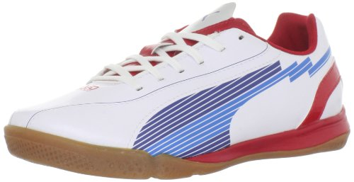 Puma Evospeed 5 IT JR Soccer Cleat ,White/Limoges/Ribbon Red