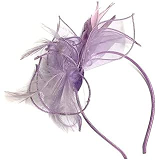 Lilac Chiffon Aliceband Headband Fascinator Ladies Day Royal Ascot Weddings 3bb1be013c4