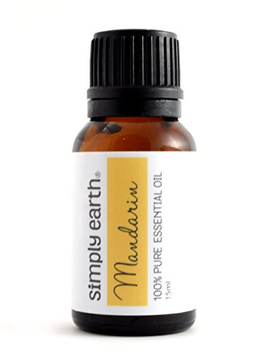 Mandarin Essential Oil by Simply Earth - 15 ml, 100% Pure Therapeutic Grade