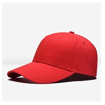 HYF Sombrero de béisbol Mujer Hombre Unisex Gorra de béisbol Sombrero Snapback Hip-Hop Sombreros Ajustables Accesorios de Moda (Color : Rojo, ...