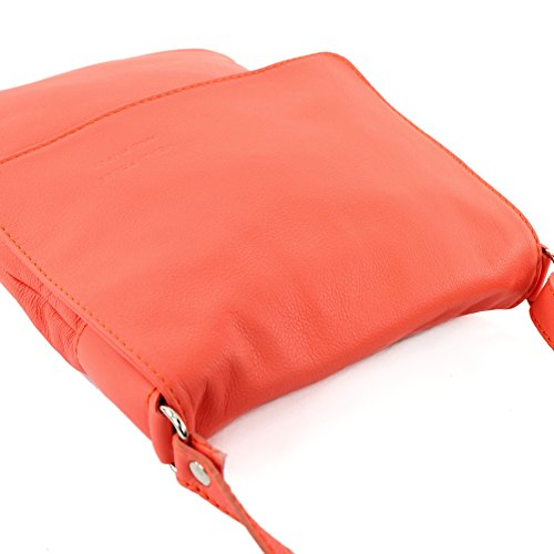modamoda de Shoulder ladies bag Colors bag Salmon leather T33 Messenger ital 4rxqw4