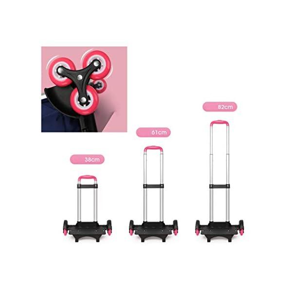 Zaino trolley per studenti, alla moda, con ruote, zaino a rullo per studenti/bambini/bambini, staccabile, scalata… 4 spesavip