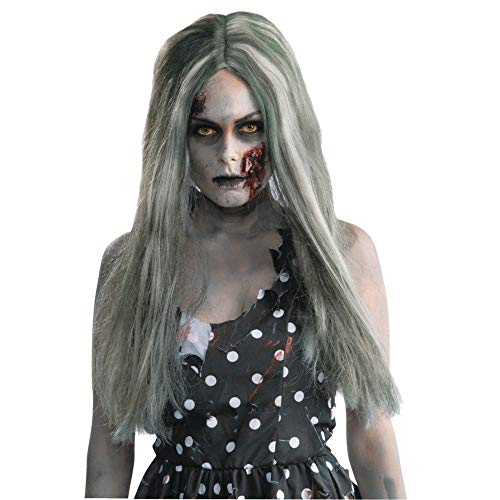 Forum Novelties Women's Standard Creepy Zombie Wig, Gray - Long, One ()