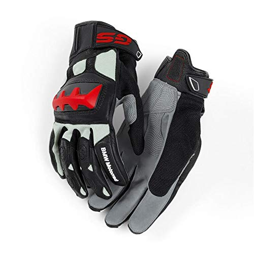 BMW Genuine Motorcycle Motorrad Rallye Glove - Color: Black/Grey/Red - Size: EU 11-11 1/2 US 11-11 1/2 by BMW