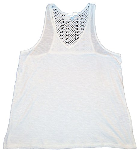 GAP Womens White Crochet Racerback Tank Top Large - Gap White Tank Top