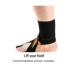Aider Dropfoot Brace Type 2 for Stroke, Hemiplegia, Peroneal Nerve Injury, Spinal Cord Injury (Left Type2, Size up to US10)