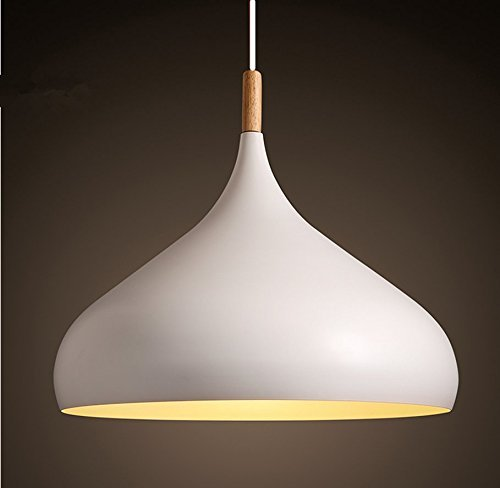 60 Watt Modern Elegance Pendant Hanging Lamp Metal Pendant Lighting Pendant Shade Chandeliers Hanging Lighting Retro Industrial lamp Vintage lampshade Pendant Light Fixtures (White)
