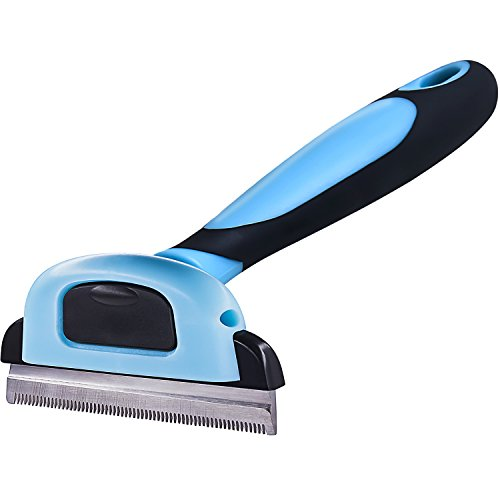 Pet Stripe Bright Grooming Comb Dog Cat Stainless Steel Cleaning Hair Trimmer