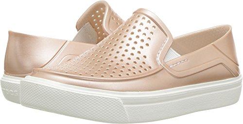 Crocs Girls' Citilane Roka Metallic SLP K Clog, Rose dust, 12 M US Little Kid