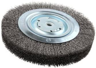 5//8 x 1//2 Arbor Pack of 1 Lincoln Electric KH322 Crimped Wire Wheel Brush 8 Diameter x 1-1//4 Face Width 4000 rpm