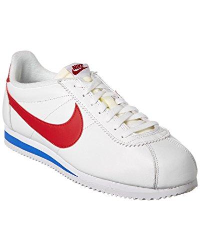 Nike Herren Classic Cortez Prem Laufschuhe, Weiß, 44 EU Weiß (Weiß / Varsity Red-Varsity Royal)