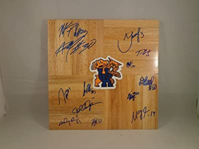 Kentucky UK Wildcats 2011-2012 Champions Team Signed 12x12 Wooden Board w/ COA
