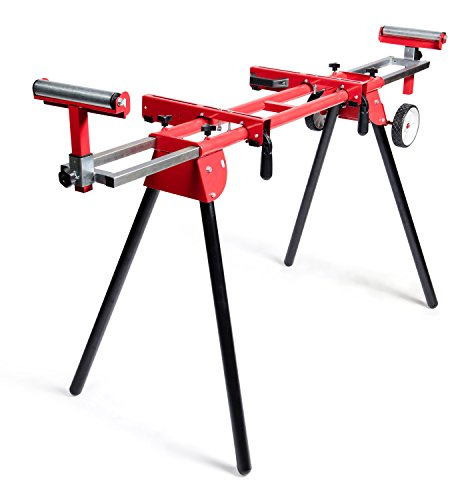 General International MS3102 Miter Saw Stand, Red, Black & Gray