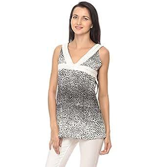 Cocum Bechette Blouse for Women - 12 UK, Black/White