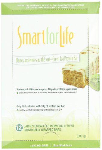 Smart for Life Protein Bar, Green Tea, 1.76 Ounce (Pack of 12) by Smart for Life