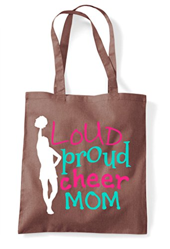 Chestnut Cheerleading Loud Tote Bag Mom Statement Proud Shopper Cheer vvRfZOq