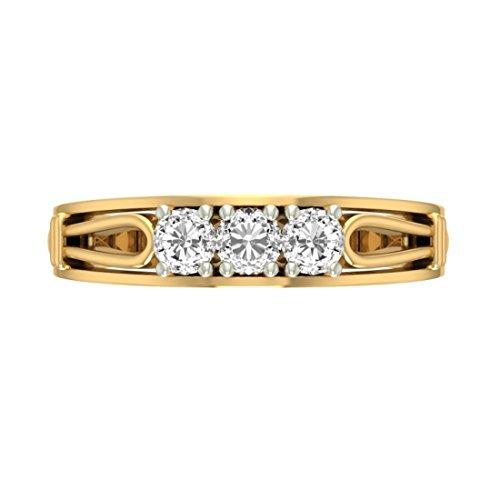 14K Or jaune 0,48CT TW Round-cut-diamond (IJ | SI) en diamant