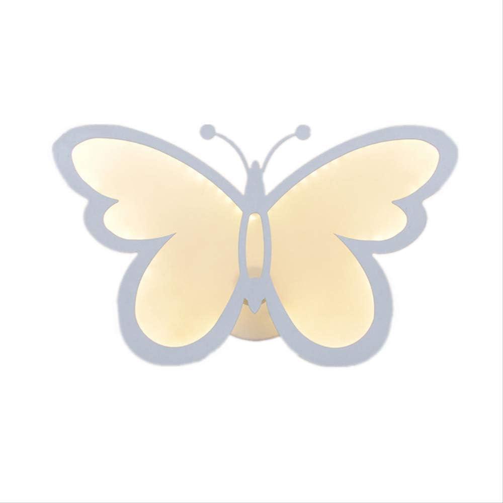 Decoracion Iluminación Focos Interruptor Interno Esterno Modernas Retro Iluminación Luces De Escalera Mariposas, Flores, Acrílico, Luces De Pared, Luces Oscuras, Pequeñas Luces Nocturnas.: Amazon.es: Iluminación