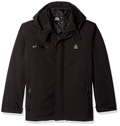 (Reebok Boys' Big Active Zipped Systems Jacket, Black, 10/12)