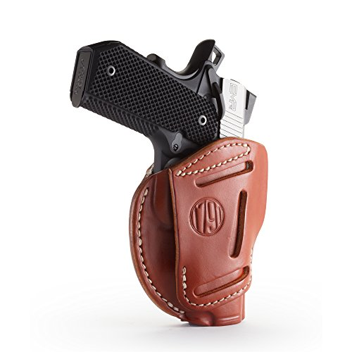 1791 Gunleather 3 Way Leather Holster for 1911 Pistols (Classic Brown)