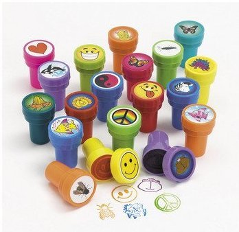Game Play 50 Assorted Plastic Stamps Kit Rubber