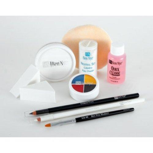 [Ben Nye Clown Makeup Kits - Deluxe Whiteface DK-1] (Clown White Makeup)